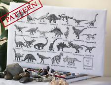 A - Z Of Dinosaurs - Cross Stitch Pattern