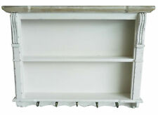 Charles Bentley Shabby Chic Kitchen Wall Shelf Unit in White Made of MDF