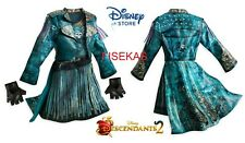 Disney Store Descendants 2 UMA Costume Dress Jacket Gloves Kids Girl Size 13 NEW