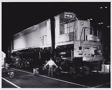 LOCOMOTIVE RR Iconic Railroads Night 1960s VINTAGE SURREAL press photo