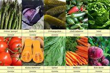 10 Gemüse Samen Set 1, Gurke, Kohl, Spargel, Kürbis, Möhren, Salat, Spinat, !