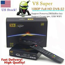 Freesat V8 Super DVB-S2 FTA Satellite TV Receiver Support USB WiFi Youtube ipt1