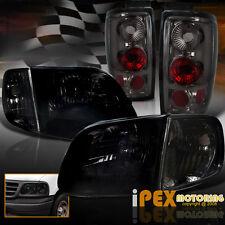 1997-2002 Ford Expedition Shiny Smoke Headlights + Corner + Smoked Tail Lights
