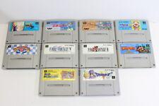 Lot 10 Super Famicom Games SFC SNES Japan Import Final Fantasy 5 6 Mario World