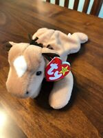 TY Beanie Baby Derby the Horse Yarn Mane Star 1995 MWMT Retired FREE SHIPPING