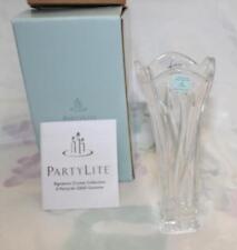 PartyLite Signature Crystal Bud Vase 24% Lead Crystal P7056 Nib