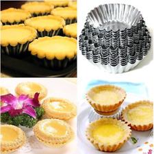 7Cm Egg Tart Aluminum Cupcake Cake Cookie Mold Pudding Baking Tool 10pcs #Ya9