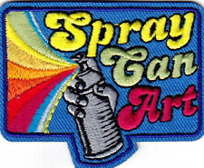 """SPRAY CAN ART"" - Iron On Embroidered Patch  - HOBBY - CRAFTS - PAINTER"