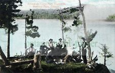 Algonquin Park, Ontario, Around the Campfire Vintage Digital Image