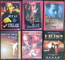 Jet Li - Eight (8) Titles - Fist of Legend, The Legend, Hero, Black Mask, etc.