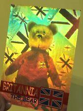 Ty Beanie Babies Trading Card Britannia The Bear Hologram, Series 2
