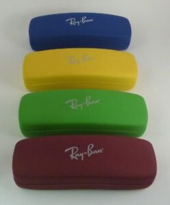New Authentic RAY-BAN Jr Kids Eyeglass Sun Case Small Blue Burgundy Green Yellow