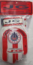 Kid's Chivas Guadalajara Soccer Goalkeeper Gloves, New White Red Goalie Sz 6