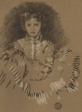 JAMES McNEILL WHISTLER ~ BABY LEYLAND ~ 1903 Lithograph THE STUDIO American/Eng.