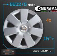 4 ORIGINAL Murama 6502/5 enjoliveurs pour 15 pouces JANTES NISSAN NOTE GRIS NEUF