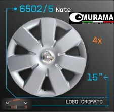 4 Original MURAMA 6502/5 Radkappen für 15 Zoll Felgen NISSAN NOTE GRAU NEU