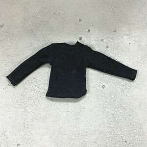 "MO-LT-BK: 1/12 Black long sleeve shirt for 6"" Marvel Legends, Mezco Slim body"