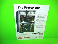 Seeburg SCD-1C 1986 Original Laser Music JUKEBOX Phonograph Promo Sales FLYER