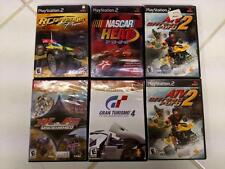 PS2 ~ 6 Empty Cases w/4 Booklets ~ Nascar Heat, RC, MX, ATV, Turismo