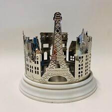 Bath & Body Works Streets of Paris 3 Wick Large Candle Holder Silver Tone Resin