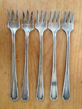 Set of 5 Vtg Antique Silverplate Park Hotel Cocktail Hor Dourves Pickle Forks