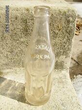 1944 clear glass 7 oz soda bottle YORKDALE York PA   -Rare