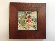 B.A. Schmidt Alice & Caterpillar Art Tile Family Woodworks Arts & Crafts Frame