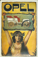 Opel Motorwagen Retro Werbung BLECHSCHILD SCHILD 20 x 30 #