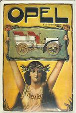 OPEL COCHE DE MOTOR Retro Publicidad Letrero Letrero de metal 20 x 30 #
