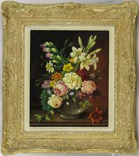 Oskar Robert Dogarth (1898-1961) Austrian Listed Vintage Oil Floral Still Life