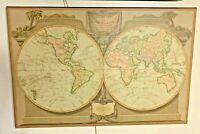 "Vintage Atlas World Map Robert Laurie & James Whittle G ""A New Map Of The World"""