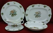 ROYAL WORCESTER china DORCHESTER Oval Bowl Gravy Boat Chop Plate Platter SET
