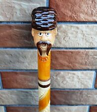Grandfather Cane Walking Stick Wooden Handmade Wood Carving Exclusive Gift=./..