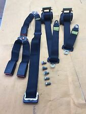 BMW E30 OEM Coupe Complete Set Rear Seat Belt Center Left & Right