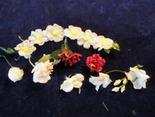 Vintage Modisteria Flower Collection 1-4.4cm Rosso Rosa Bianco Giappone per