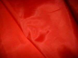 BRIGHT RED  COLOUR   POLYESTER LINING 150CM WIDE