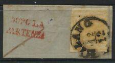 15230 - LOMBARDO VENETO # 1e su frammento da MILANO - 1.a scelta
