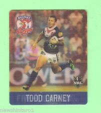 #D536.  NRL 2011 RUGBY LEAGUE TAZO #37  TODD CARNEY, SYDNEY ROOSTERS