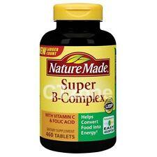 Nature Made Super B-Complex Vitamin B12 B6 C Antioxidant Nervous System 460 tab