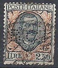1926 REGNO USATO FLOREALE 2,50 LIRE PERFIN - RR12097