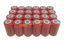 24 x C size 1.2V 10000mAh Ni-MH Red Color Rechargeable Battery USA