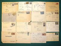 Repubblica - Lotto di 16 documenti postali (commemorativi), 1946/56