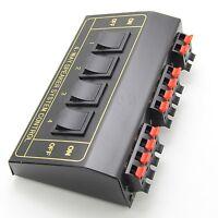 NEW 4 Speaker Selector Switch Switcher Splitter 200Watt