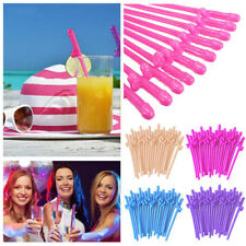 20Pcs Hens Night Bachelorette Party Accessory Plastic Willy Dick Dicky Straws