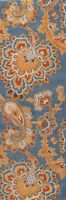 """Traditional Floral Paisley Light Blue Runner Oriental Rug Wool 8' 10"""" x 2' 7"""""""