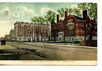 Hohman Street Scene-North from Broken Corner-Hammond-Indiana-Vintage Postcard