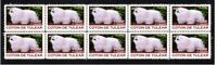 COTON DE TULEAR STRIP OF 10 YEAR OF THE DOG VIGNETTE STAMPS 1