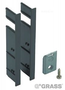 Front Fixing Clip Set, Internal Drawer, for Vionaro Drawer Systems