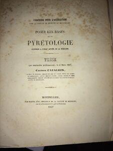 PYRÉTOLOGIE. MÉDECINE. Étude de 1857.