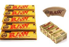 Raw Classic Kingsize Slim Cone Tips Organic Rolls Smoking Bundle